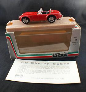 """Model Box 8410 AC Shelby Cobra """"Ruote a Raggi"""" 1/43 neuf en boite/boxed - France - État : Neuf: Objet neuf et intact, n'ayant jamais servi, non ouvert. Consulter l'annonce du vendeur pour avoir plus de détails. ... Marque: Model Box Fabricant: Model Box Numéro de pice fabricant: 8410 Type: Voiture: passager Couleur: Rouge Em - France"""
