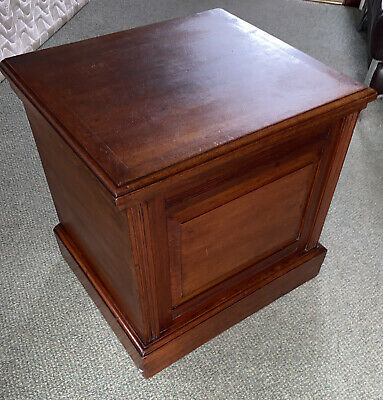 Antique victorian mahogany commode stool lift top seat