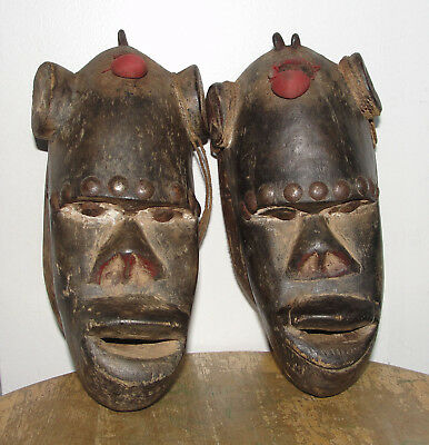 Old Ancient African Tribal Dan Monkey Passport Mask Africa Baule / Ivory Coast