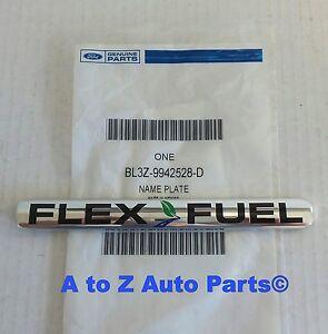 2010 2012 ford f 150 rear chrome flex fuel nameplate emblem oem ford. Black Bedroom Furniture Sets. Home Design Ideas