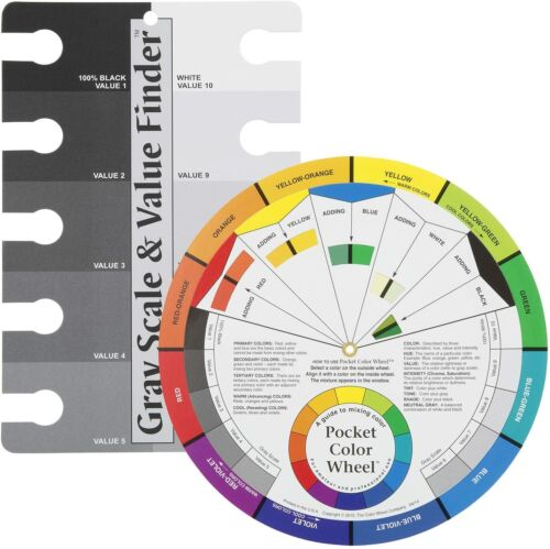 Color Wheel Pocket Guide with Gray Scale Value Finder