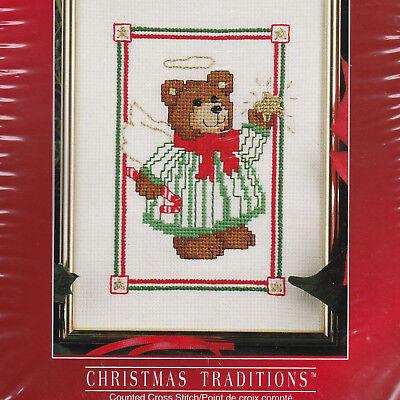 Cross Stitch Kit Christmas Traditions Designs Teddy Bear Angel Artist Smock PJs - Smocked Christmas Pajamas