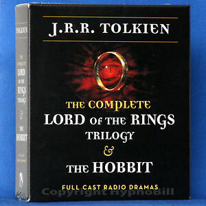 $59.95 Retail Complete Lord of The Rings Trilogy & The Hobbit Set TOLKIEN on CD