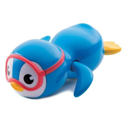 Munchkin Wind Up Swimming Penguin Blue Bath Toy Baby Kids  Water Pool