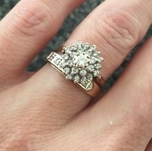 9ct Gold Dimond Ring Set Canning Vale Canning Area Preview