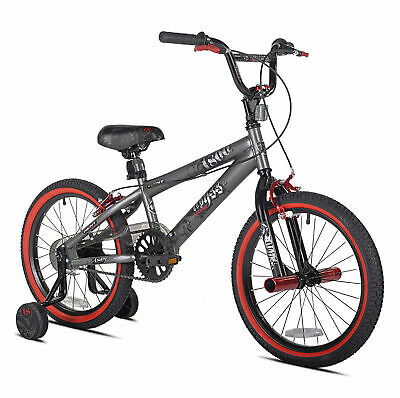 NEW 18-inch Boys BMX Freestyle Bike with Pegs Outdoor Sport Fun Child Bicycle