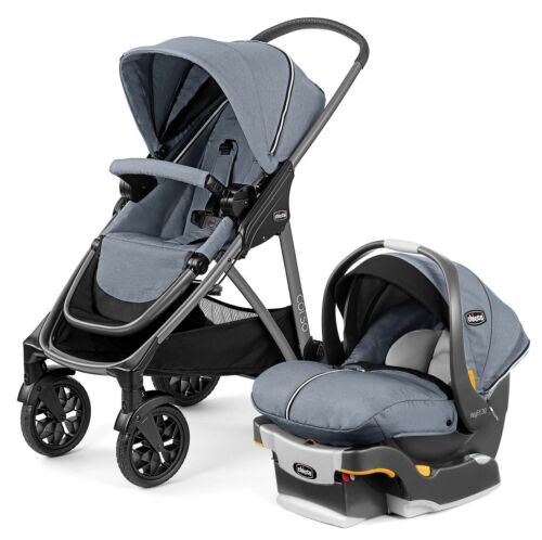 Chicco Corso Modular Travel System Stroller w KeyFit 30 Zip CarSeat Silverspring