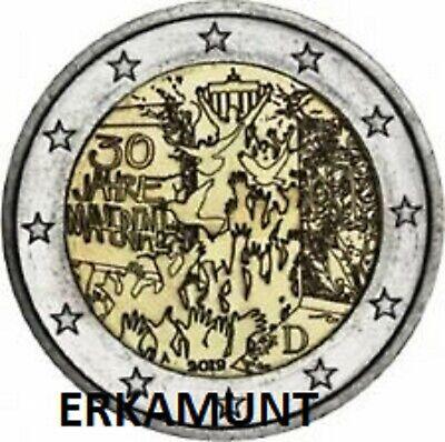 """5x2 Euro Deutschland 2019 """"30 Jahre Mauerfall"""" lose"""" A,D,F,G,J (stgl.)"""