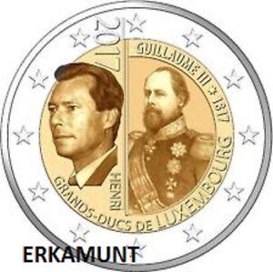 2-euro-Luxemburg-2017-200-Geburtstag-Grosherzogs-Wilhelm-III-VVK