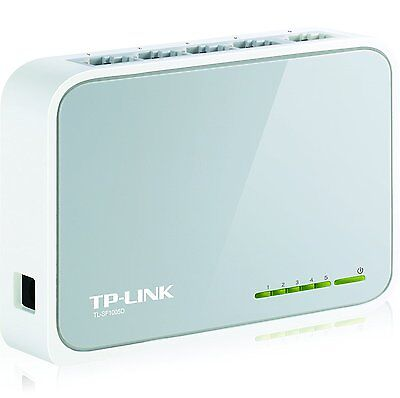 TP LINK 5 Port Fast Ethernet Switch LAN Network Hub Wired RJ45 Splitter