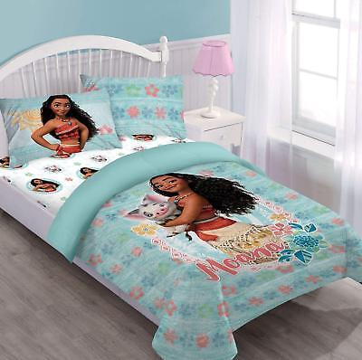 Disney Princess Moana & Pua Full Size 4pc Bedding Comforter Set Bed in a Bag