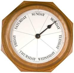 DayClocks Classic Day of The Week Fun Retirement Gift-Oak Wall Clock, 9.5