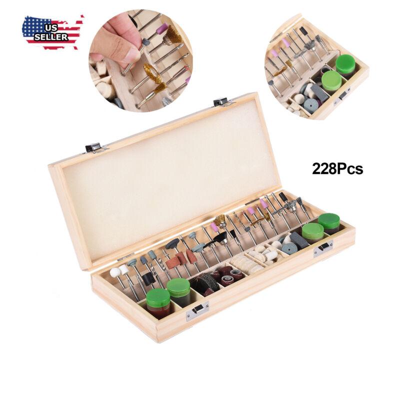 228pcs Rotary Tool Accessory Bit Power Drill Hobby Polishing Tool Kit Multitool