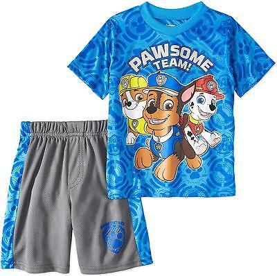 Nickelodeon Paw Patrol Toddler Boys' T-Shirt & Mesh Shorts Clothing Set](Paw Patrol Apparel)