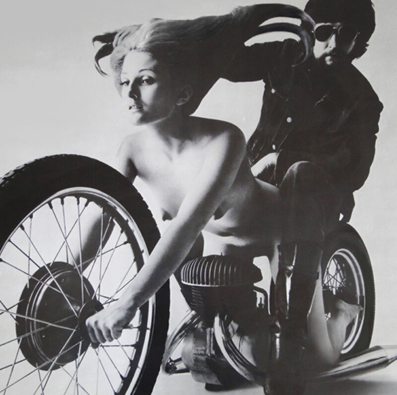 "1970 vintage motorcycle poster 18"" x 24"""