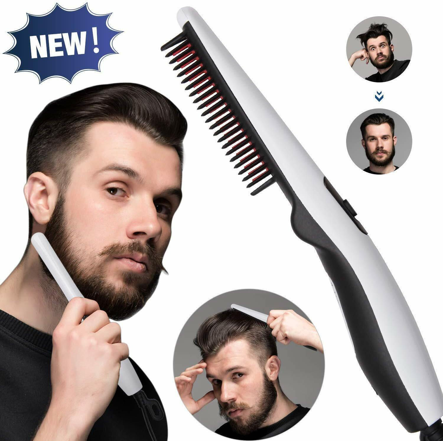 electric straightening comb for men preheat within