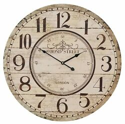 Wall Clock 49 Bond Street 23 5/8in Shabby Chic Country House Vintage