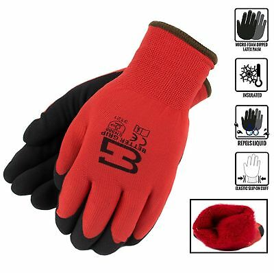 Safety Winter Insulated Double Lining Rubber Coated Work Gloves -bgwans-rd