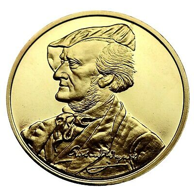 Medaille - Richard Wagner - Bayreuth - 1000er Silber (vergoldet) online kaufen
