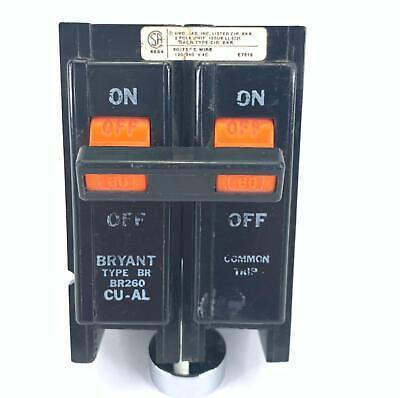 Bryant Br260 Circuit Breaker 60 Amp 2 Pole 120240 Vac