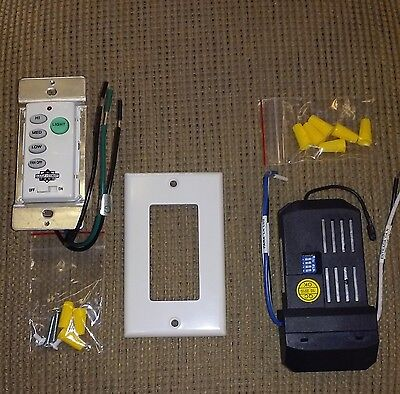 IN WALL CEILING FAN REMOTE CONTROL SYSTEM _ COMPLETE WITH RECEIVER!