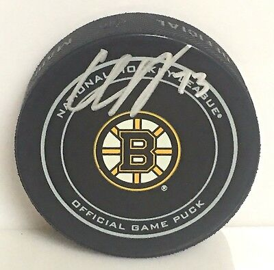 Charlie McAvoy Boston Bruins Signed Autographed official game hockey Puck