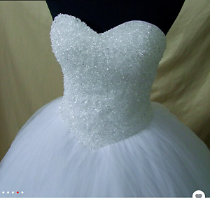 Pure white deb dress on sale.Corset back.Tulle skirt Werribee Wyndham Area Preview