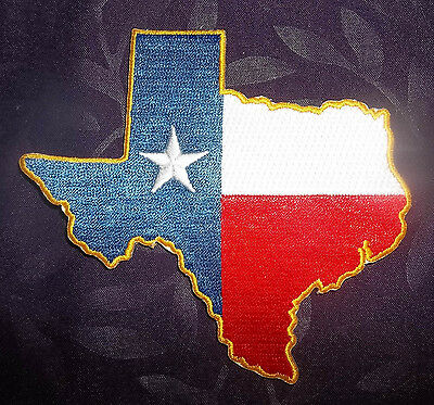 TEXAS FLAG PATCH LONE STAR STATE AUSTIN DALLAS HOUSTON DIY BONNIE BLUE