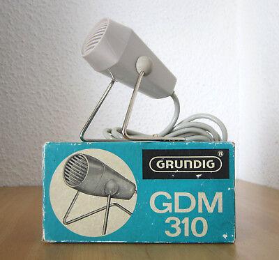 Vintage GRUNDIG GDM 310 Mikrofon dynamisches Mikrophon 1960er Jahre Retro OVP