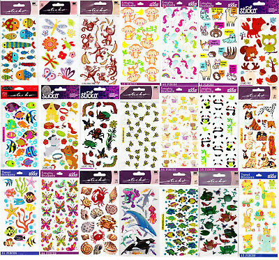 Farm Animal Stickers (Sticko Stickers ANIMALS - Pet Fish Dog Farm Bear Monkey Deer Zoo Horse Bug -)