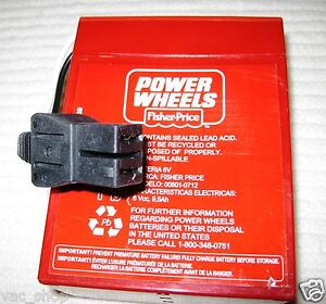00801-0712-Genuine-Power-Wheels-by-Fisher-Price-Red-Battery-6-Volt-008010712