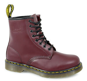 Dr Martens 1460z Unisex Classic Airwair 8 Eyelet Boots Mens/Womens Black Red New