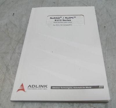 AdLink NuDAQ / NuIPC 9112 Series Multi-Function DAS Cards Manual, 50-11111-2040