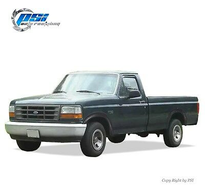 Black Paintable Rugged Style Fender Flares 92-96 Ford F-150 F-250 F-350 (1996 Ford F150 Fender)
