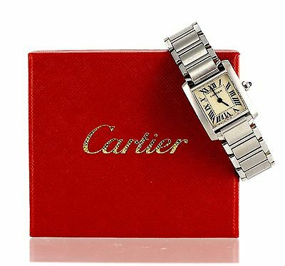 Women's Cartier Tank Francaise Watch model 2384 Stainless steel w/Link box & Tag