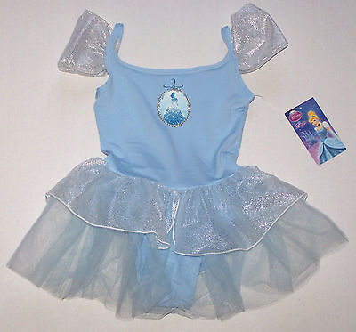 Nwt New Capezio Disney Princess Leotard Dress Tutu Cinderell