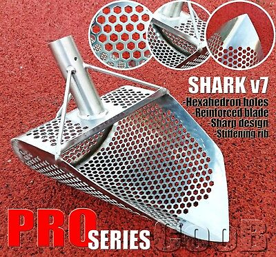 CooB PRO Series *SHARK v7* Beach Sand Scoop Metal Detector Hunting Tool Steel