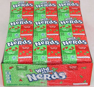 Nerds Watermelon and Wild Cherry 1 Box of 36 Count Packs Bulk Candy 3.71 lb