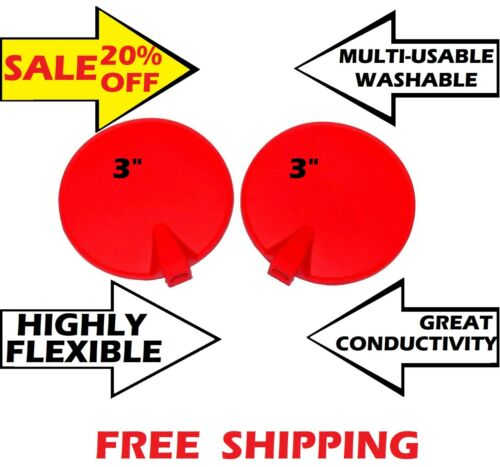 2PS CHATTANOOGA RUBBER CARBON REUSABLE ELECTRODE for INTELECT LV120 & LV100, RED