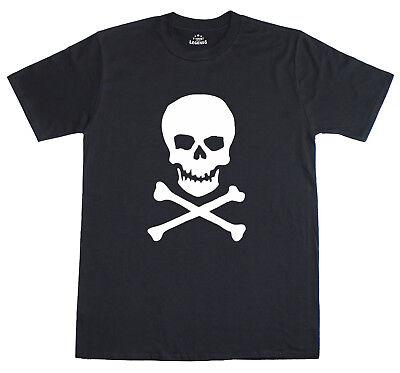 Schädel & Gekreuzte Knochen Piraten Kostüm Herren T-Shirt Free Post U.K ()