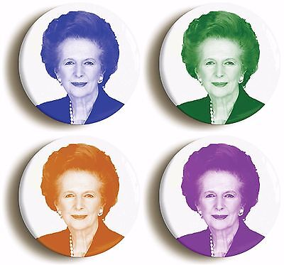 margaret thatcher badge button pin set (size is 1inch/25mm diameter) tory