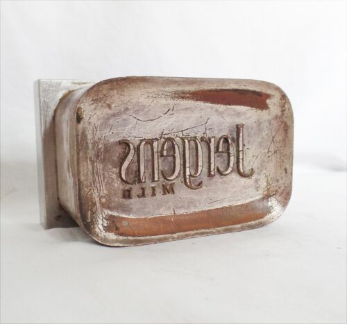 Antique Brass Industrial Jergens Bar Soap Mold - Vintage Heavy Factory Unusual