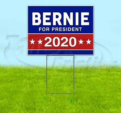 Bernie For President 2020 18x24 Yard Sign Corrugated Plastic Lawn Usa Election