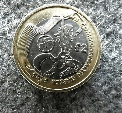 2002 Commonwealth Games Rare £2 Two Pound Coin - England