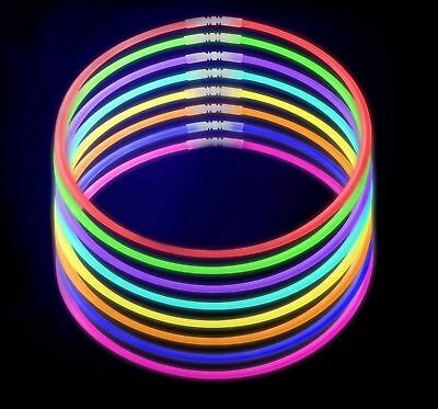 Lumistick Premium 22 Inch Glow Stick Necklaces with Connectors | Kid Safe - Glow Stick Necklace