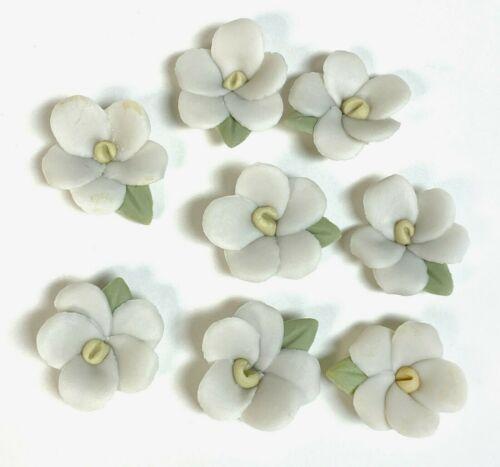 Porcelain flowers vintage pansy handmade Lot of 24