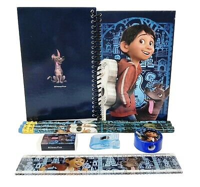 Disney Blue Coco Stationary Set Back to School Supplies for Kids 8 Pieces (Stationary For Kids)