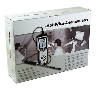 Dt8880 Hot Wire Thermo-anemometer Air Flow Velocity Meter Temperature Tester Usb