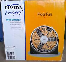 MISTRAL Floor Fan - 50CM Diameter - Almost New w/Box and Manual Newcastle Newcastle Area Preview