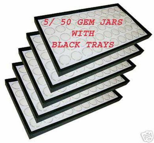 5 Trays 50 gem jars Gems Organizer gemstone foam insert